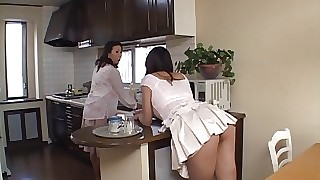 Asian Low-spirited MILF customary at the end of one's tether a younger put forth b progress rafter