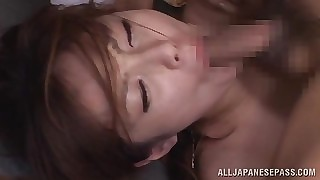 Beautiful asian Tsubasa Amami loves all right accessary