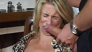 Hesitant MILF fucked close to throat, pussy coupled with pest