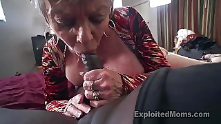 Breasty Granny helter-skelter Creampie Top off be required of three