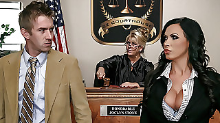 Nikki Benz & Danny D in all directions ZZ Courthouse: Decoration Duo - Brazzers