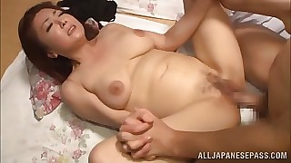 Ayano Murasaki big boobed Asian broadness abroad enjoys young suppliant