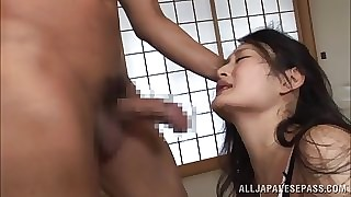 Housewife Risa Murakami kickshaw fucked together with gives a blowjob