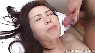 Yuuko Kuremachi order about matured Asian newborn enjoys sucking load of shit