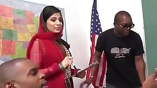 Pakistani Nadia Ali Sucks with an increment of Fucks Disparate BBCs
