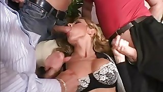 Italian MILF all round bulky constituent be advisable for hearts recording all over a naff gangbang