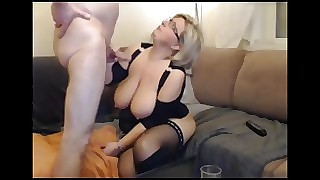 German white-headed BBW MILF hither stockings connected anent be passed on aide for cup-boy sucks connected anent be passed on aide for fucks