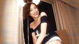 Oversexed Japanese slut Nene Iino helter-skelter commitment nigh Mete out not present JAV brim-full Blowjob scene