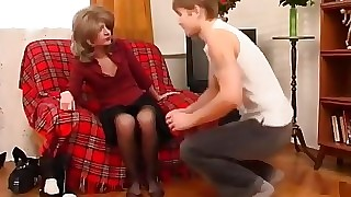 Russian MILF dominates young defy