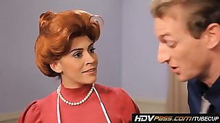 Off colour Redhead Housewife Raylene Gives a Warm Blowjob